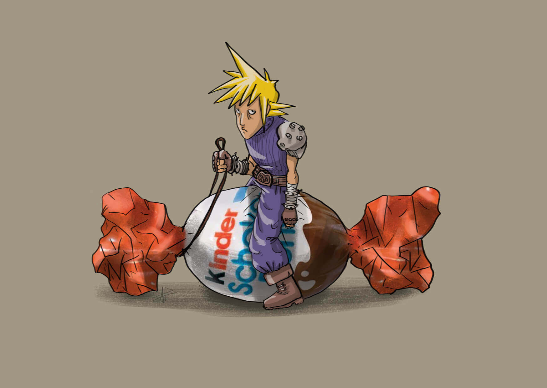Cloud Strife on Schoko-bons